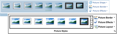 Picture Styles Group in Microsoft Word