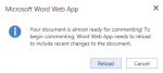 Skydrive in Education: commenting message