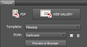 web gallery in photoshop cc