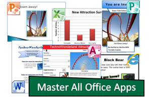 TECHNOWONDERLAND: Become a Microsoft Office expert. Use Word, Excel, PowerPoint, Publisher, and Access to promote your own theme park.