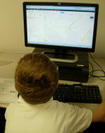 Grade 3 students uses Google Maps to practice Internet skills.