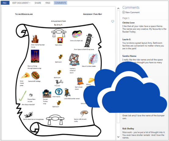 skydrive in education - commenting system