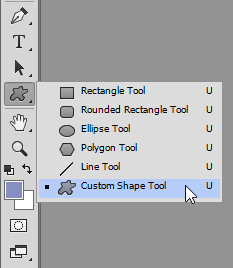 Custom Shape Tool Photoshop CC