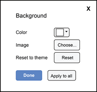 background dialog box