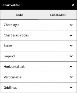 Google Chart Editor Sidebar Customization Options