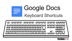 keyboard shortcuts google docs