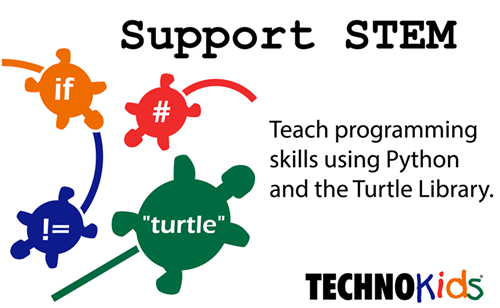 teach Python using the Turtle Library