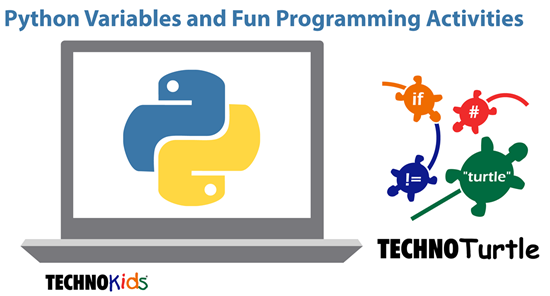 Python variables and TechnoTurtle