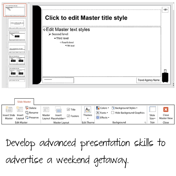Customize the Slide Master