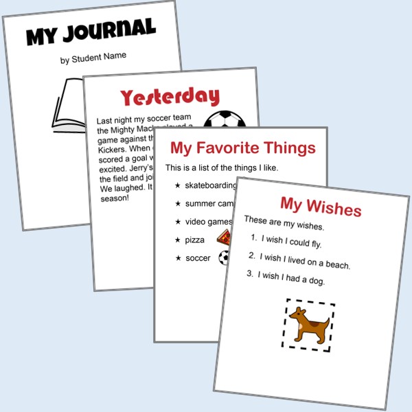 Journal Writing Activities