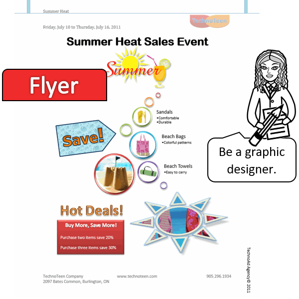 Create a Flyer Advertisement