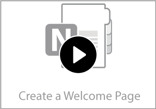 Customize the Welcome Page of Your TechnoKids Class Notebook.