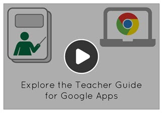 Watch the video to learn about the parts of a Google Apps teacher guide.
