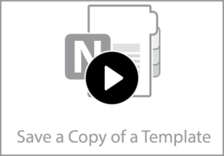 Watch the video to learn how to save a template from the class notebook.