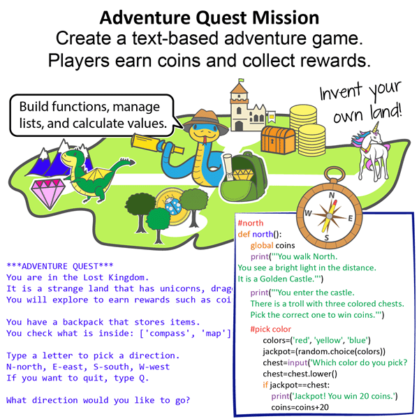 Build an Adventure Quest