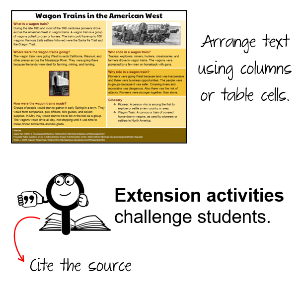 Challenge Students with Extension Activities