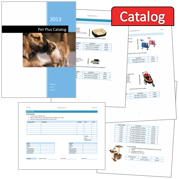 Develop a Product Catalog