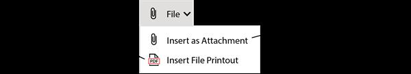 Insert File Menu