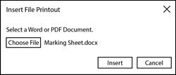 Insert Marking Sheet