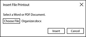 Insert File Printout