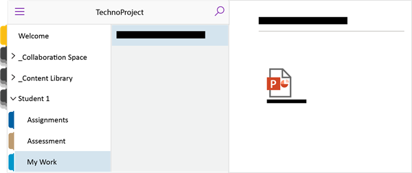 Submit student work by attaching the file to a OneNote page in a TechnoKids Class Notebook.