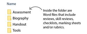 Open the Assessment Folder
