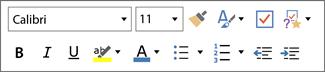 Mini Text Toolbar