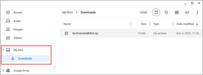 downloads folder chromebook