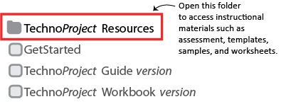 select resources folder