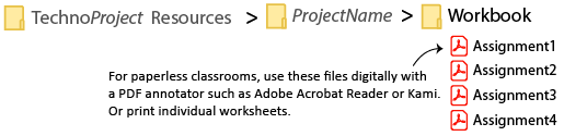 individual worksheets