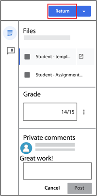assign 1 grading pane